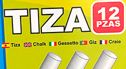 Tiza means Chalk